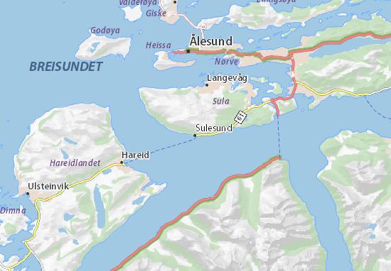Mapa Plano Sulesund
