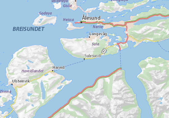 Karte Stadtplan Sulesund