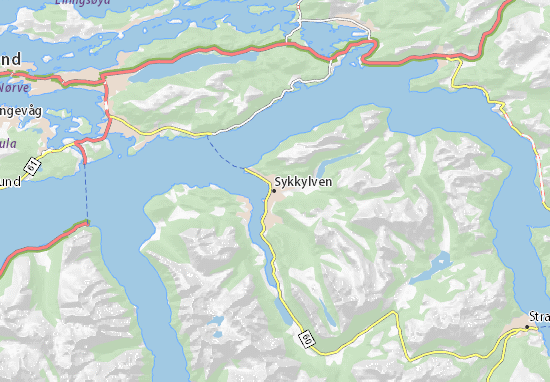 Sykkylven Map
