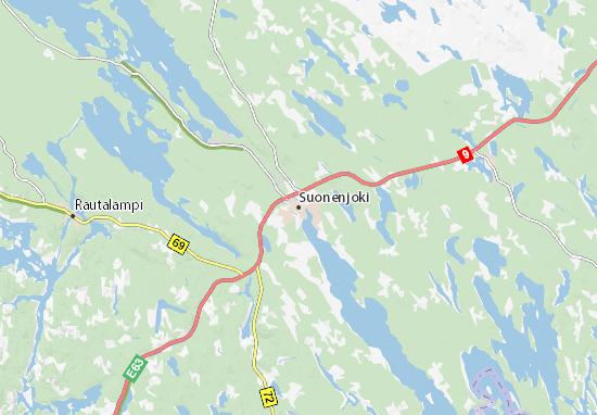 Kaart Plattegrond Suonenjoki