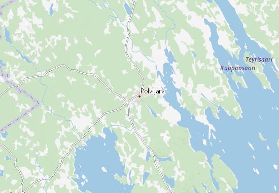 Carte-Plan Polvijärvi