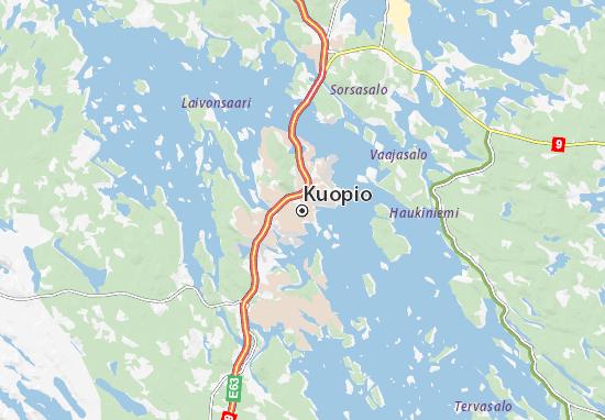 Kaart Plattegrond Kuopio