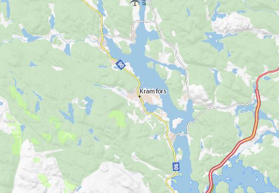 Mapa Plano Kramfors