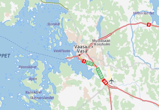 Kaart Plattegrond Vaasa