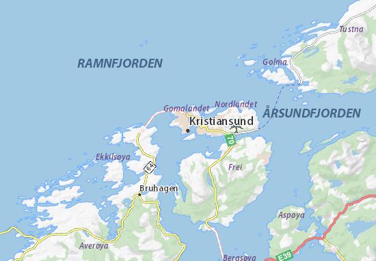 Mapas-Planos Kristiansund