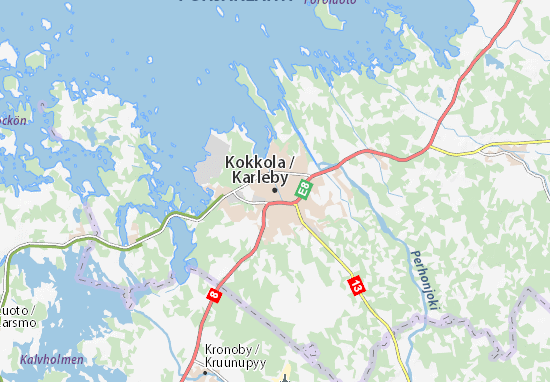 Kaart Plattegrond Kokkola