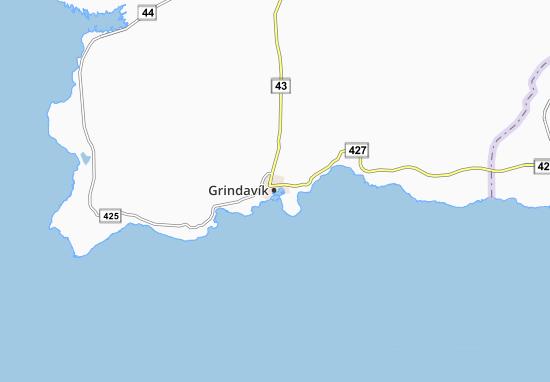 Mapa Plano Grindavík