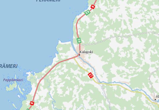 Kaart Plattegrond Kalajoki
