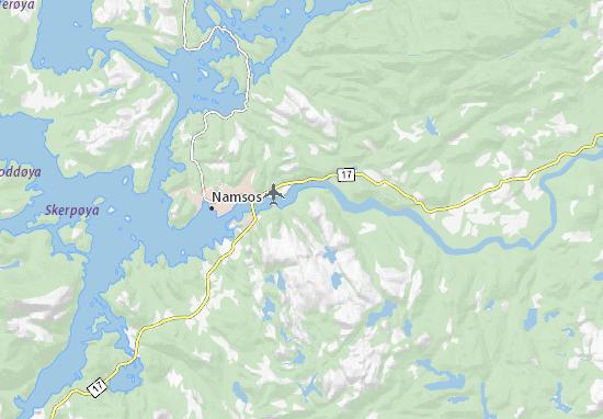 Carte-Plan Namsos lufthavn