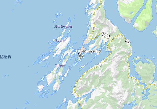 Mapa Plano Brønnøysund