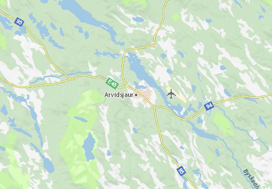 Mapa Plano Arvidsjaur