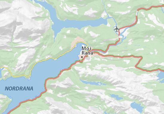 Map Of Mo I Rana Michelin Mo I Rana Map ViaMichelin - Map of mo