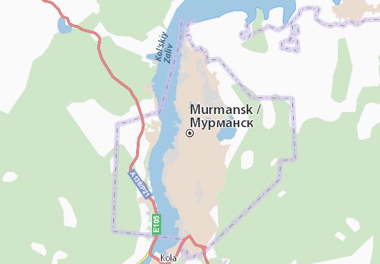 Carte-Plan Murmansk