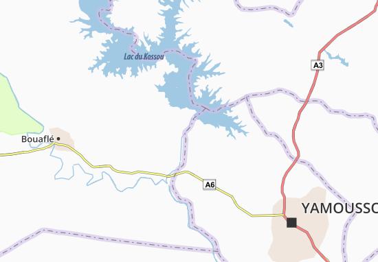Carte-Plan Kossou