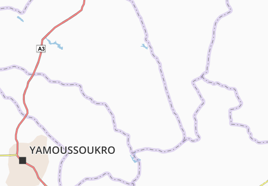 Carte-Plan Kouassi-Aflékro