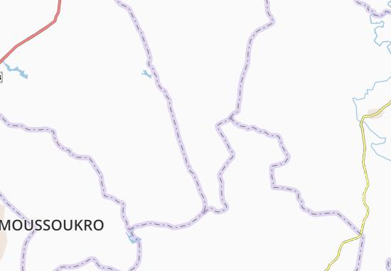 Carte-Plan Ti-Ngan-Okoukro