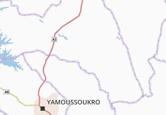 Carte-Plan Bakro Sakassou