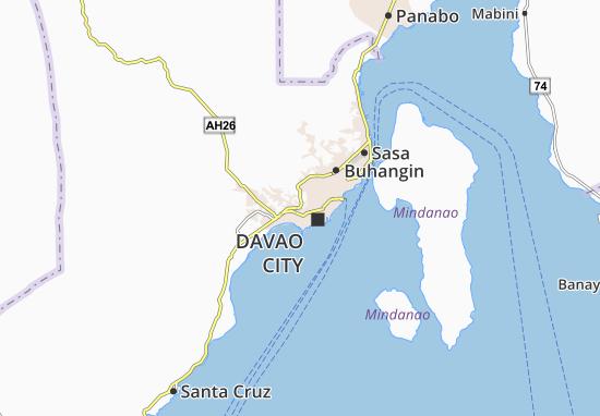Map of matina crossing michelin matina crossing map viamichelin all viamichelin for davao city gumiabroncs Choice Image