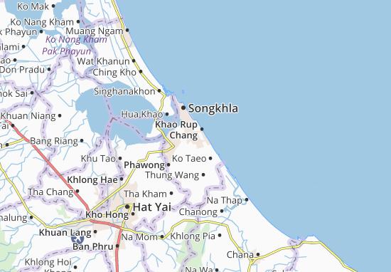 Kaart Plattegrond Khao Rup Chang