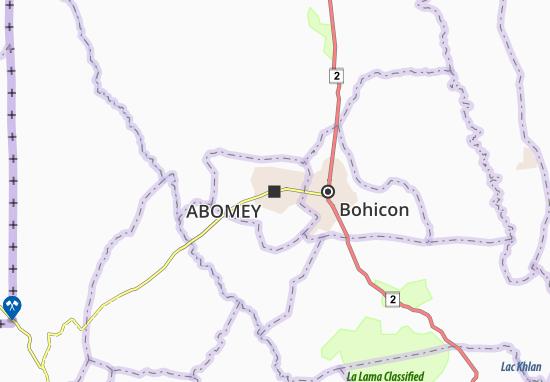 Kaart Plattegrond Abomey
