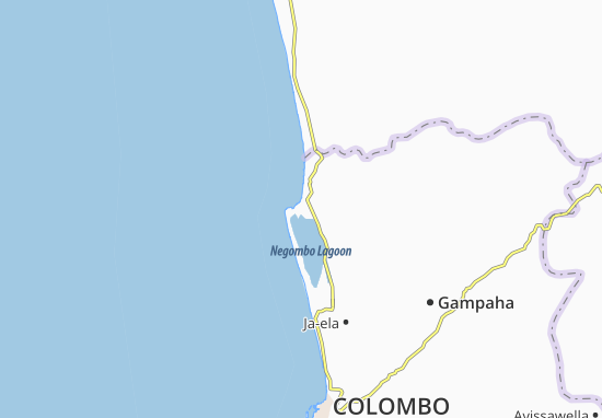 Negombo Map