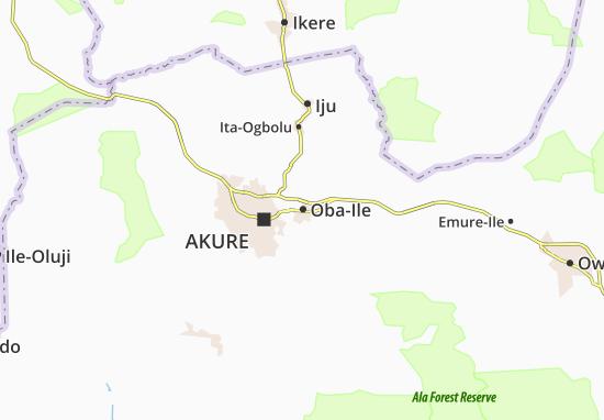 Carte-Plan Oba-Ile