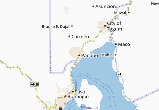 Carte-Plan Panabo