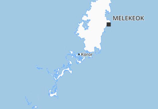 Karte Stadtplan Koror