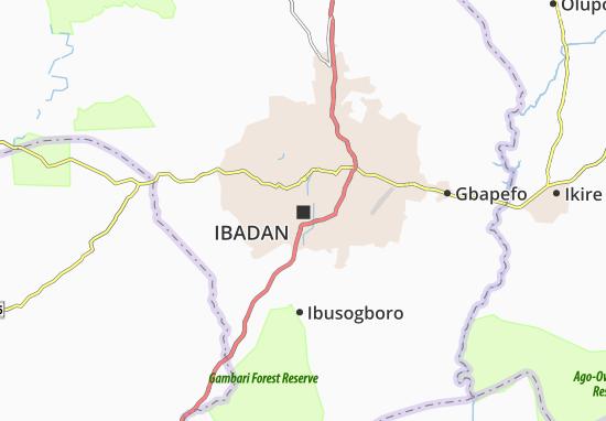 Mapa Plano Ibadan