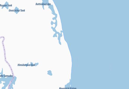 Kaart Plattegrond Kalmunai