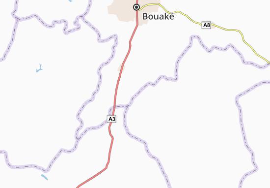 Carte-Plan Kouakabo