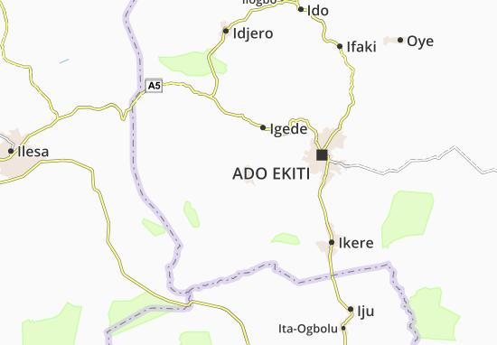 Carte-Plan Ilawe-Ekiti