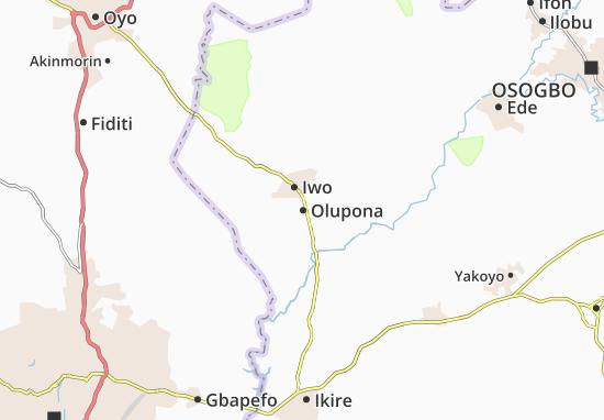 Carte-Plan Olupona
