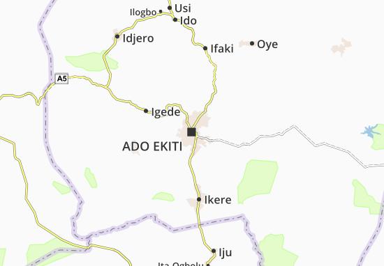 Carte-Plan Ado Ekiti
