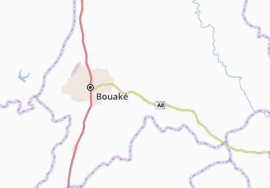 Carte-Plan Kékré-Kouakoukro