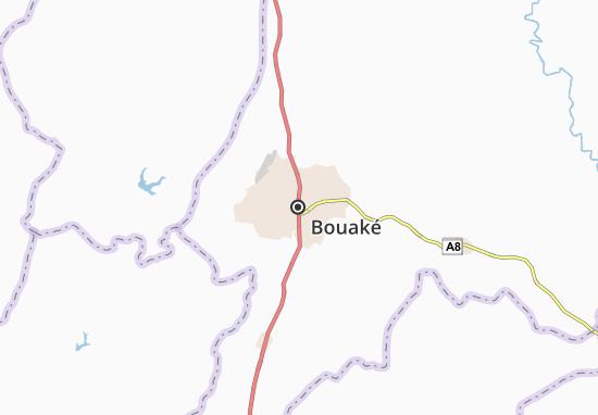 Carte-Plan Bouaké