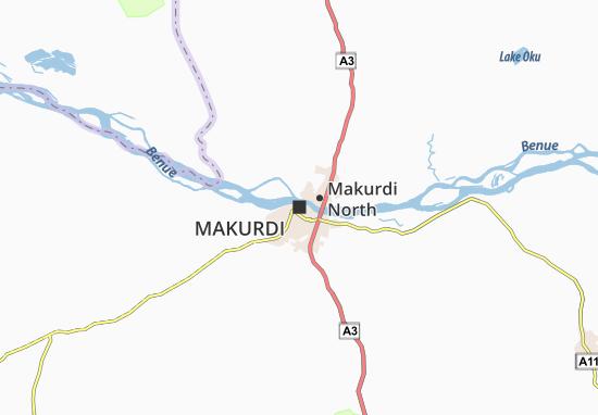 Carte-Plan Makurdi