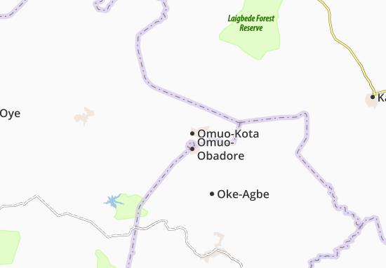 Carte-Plan Omuo-Kota