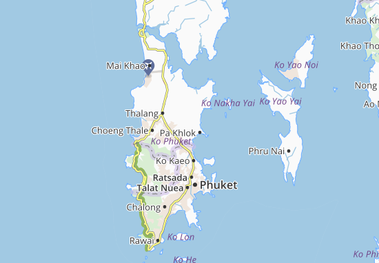 Map of Pa Khlok Michelin Pa Khlok map ViaMichelin – Tourist Attractions Map In Pa
