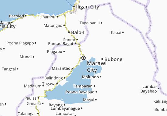 Map Of Marawi City Michelin Marawi City Map Viamichelin