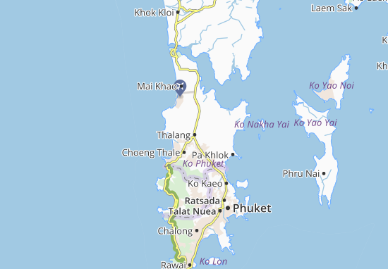 phuket kaart Thalang Map: Detailed maps for the city of Thalang   ViaMichelin
