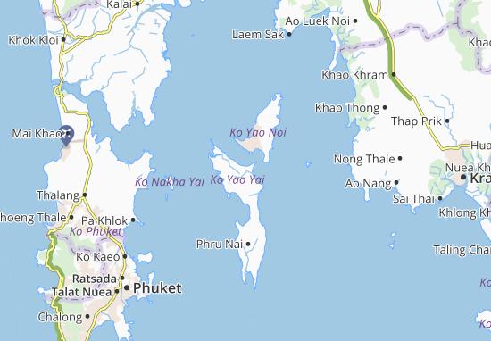 Carte Thailande Koh Yao Yai.Carte Detaillee Ko Yao Yai Plan Ko Yao Yai Viamichelin