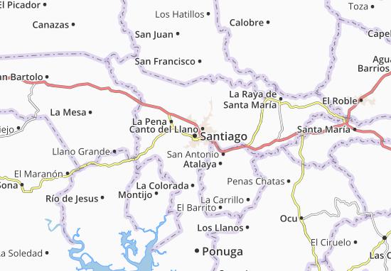Mapa Plano Santiago