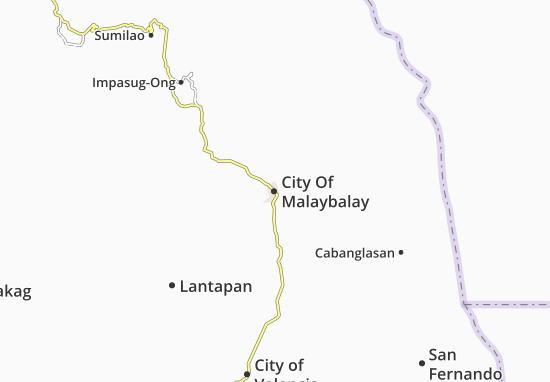 Mappe-Piantine City Of Malaybalay