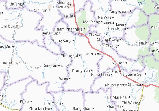 Thung Yai Map