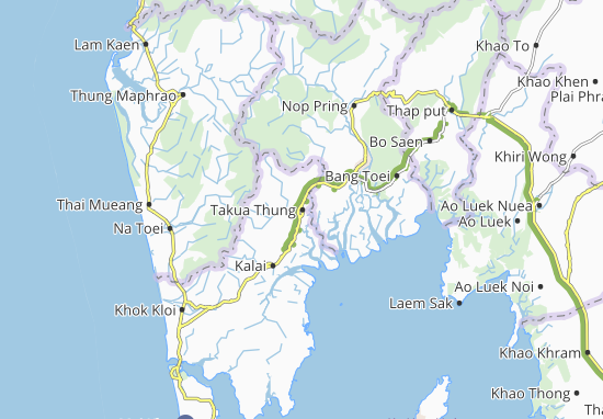 Takua Thung Map