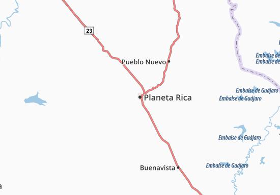 Carte-Plan Planeta Rica