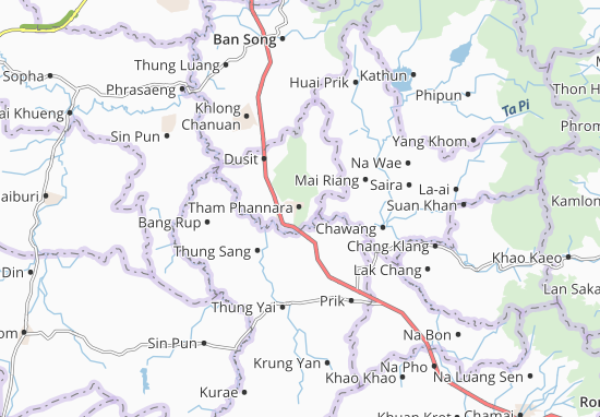 Tham Phannara Map