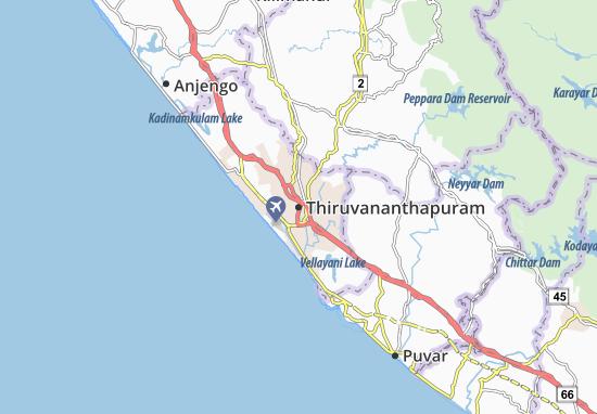 Mapas-Planos Thiruvananthapuram
