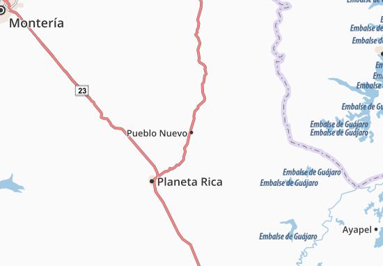 Carte-Plan Pueblo Nuevo